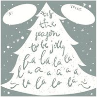Picture of Gift Sticker Christmas White Tree