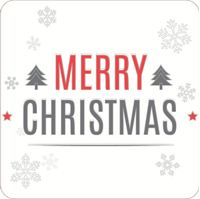 Picture of Gift Sticker Merry Christmas Snowflake