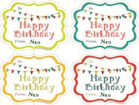 Picture of Gift Sticker Happy Birthday Banner