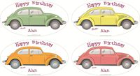 Picture of Gift Sticker Happy Birthday Beetle