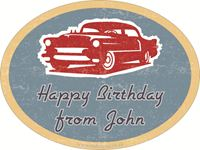 Picture of Gift Sticker Vintage Car Oval